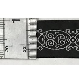 Cloak and Dagger Creations Arabescos Trim, White on Black