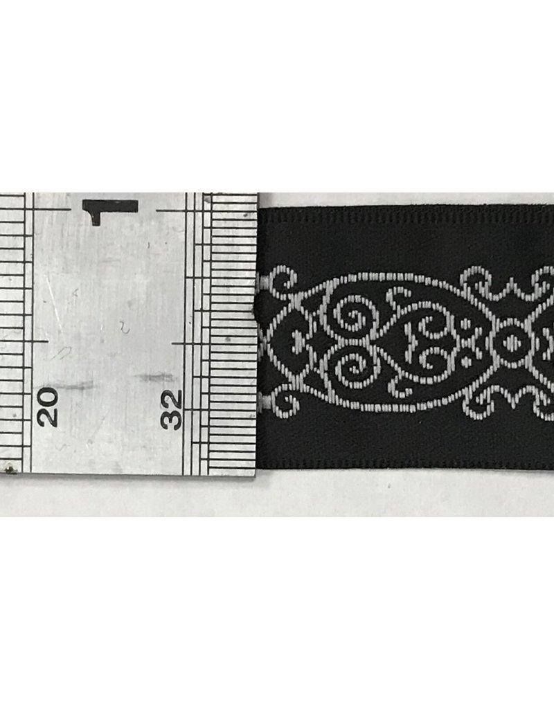 Cloak and Dagger Creations Arabescos Trim, White on Black