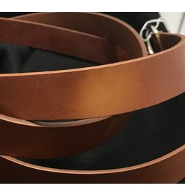 "Cloak and Dagger Creations 1.125"" Cognac Brown Ring Belt with Nickel Silver Ring - Distressed"