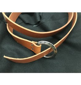 "Cloak and Dagger Creations 1.5"" English Tan Ring Belt with Fancy Buckle"