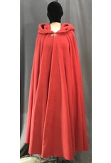 Cloak and Dagger Creations 4141 -  Soft Red Fleece Long Easy Care Cloak, Pewter Vale Clasp