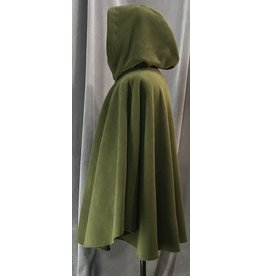Cloak and Dagger Creations 4107 - Moss Green Easy Care Full Circle Cloak, Pewter Vale Clasp