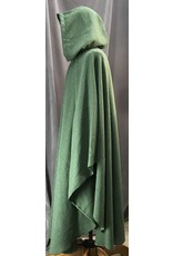 Cloak and Dagger Creations 4115 - Soft Heather Green Green Easy Care Ruana-style Cloak, Unlined Hood, Golden Vale Clasp