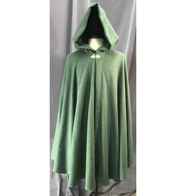 Cloak and Dagger Creations 4117 - Shamrock Green Easy Care Cloak, Unlined Hood, Gold-tone Vale Clasp