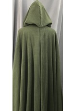 Cloak and Dagger Creations 4145 - Moss Green Thermopro Fleece Long Full Circle Cloak, Pewter Vale Clasp