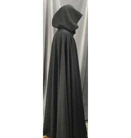 Cloak and Dagger Creations 4148 - Black Full Circle Cloak for Indoors, Unlined Hood