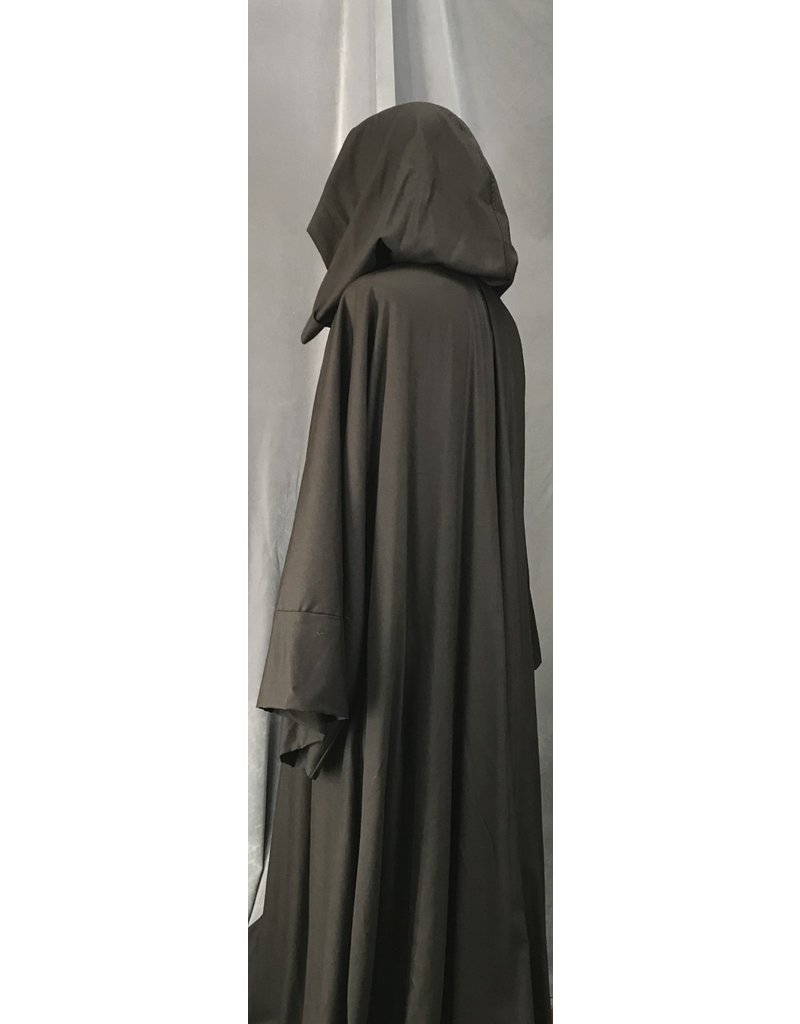 Cloak and Dagger Creations R463 - XL Washable Seal Brown Woolen Jedi Robe