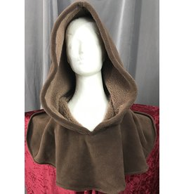 Cloak and Dagger Creations H186 - Hood in Brown Fleece, Heavyweight