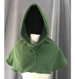 Cloak and Dagger Creations H195 - Moss Green Thermalpro Fleece Hooded Cowl
