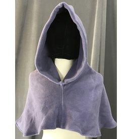 Cloak and Dagger Creations H198 - Hood in Grey-Purple Fleece