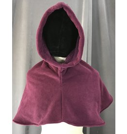 Cloak and Dagger Creations H200 - Red-Violet Fleece Hooded Cowl