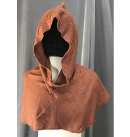 Cloak and Dagger Creations H201 - Chestnut Brown Rayon Cowl w/Pointed Hood