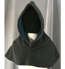 Cloak and Dagger Creations H204 - Hood in Charcoal Black Windblock Fleece