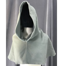 Cloak and Dagger Creations H205 - Warm Grey Easy-Care Fleece Hooded Cowl