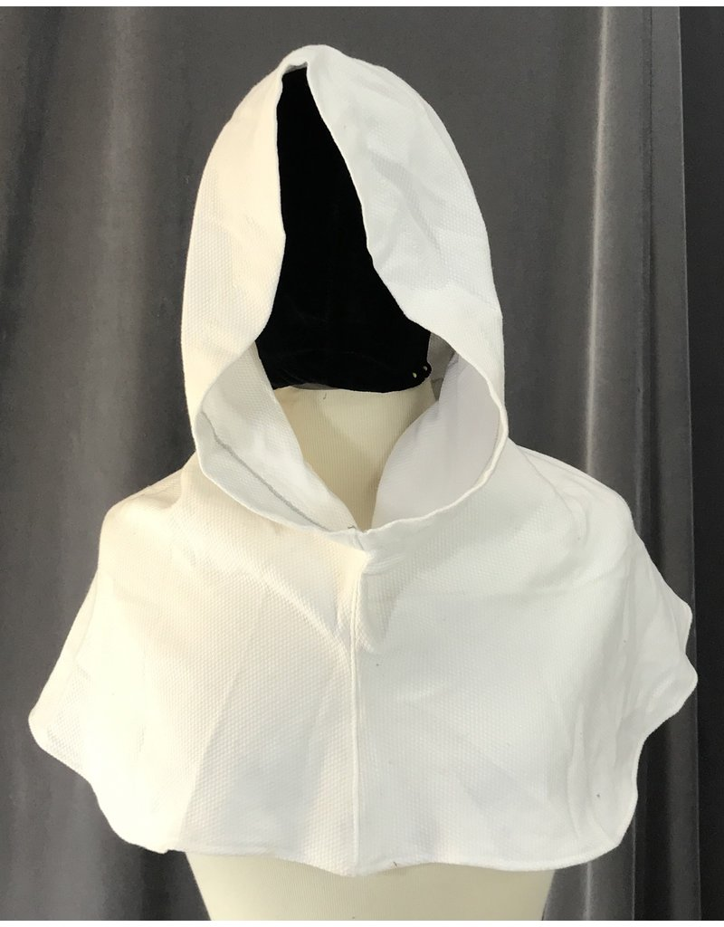 Cloak and Dagger Creations H209 - Hood in White Waffle-Weave Cotton Blend w/Pointed Hood