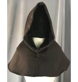 Cloak and Dagger Creations H210 - Hickory Brown Cashmere Wool Blend Hooded Cowl