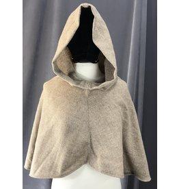Cloak and Dagger Creations H192 - Tan & Beige Herringbone Hooded Cowl