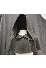 Cloak and Dagger Creations H244 - Lightweight Brown Wool Cowl w/Liripipe Hood