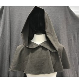 Cloak and Dagger Creations H244 - Hood in Light Brown 100 % Wool, Lightweight with Liripipe