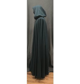 Cloak and Dagger Creations 4178 - Agean Green Long Full Circle Cloak, Unlined Hood, Clasp TBD