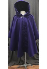 Cloak and Dagger Creations 4192 - Royal Purple Easy Care Ruana-Style Cloak, Pewter Vale-type Clasp