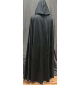 Cloak and Dagger Creations 4174 - XL Heathered Black 100% Wool Full Circle Cloak, Unlined Hood, Clasp TBD