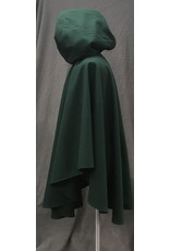 Cloak and Dagger Creations 4206 - Forest Green Full Circle Ruana-Style Cloak, Purple Cotton Velvet Hood Lining, Pewter Vale-style Clasp