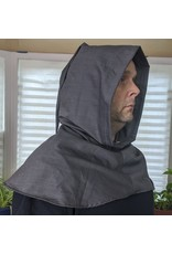 Cloak and Dagger Creations H248 - Grey Wool Blend Hooded Cowl w/Pointed Hood