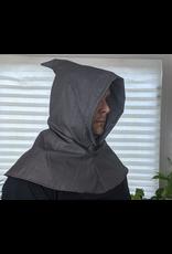 Cloak and Dagger Creations H246 - Medium Grey Lightweight Linen-look Wool Hooded Cowl