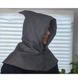 Cloak and Dagger Creations H246 - Hood in Medium Grey Linen-look Wool