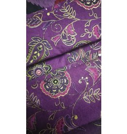 Cloak and Dagger Creations 3 Layer Folded Face Mask - Purple Paisley - 100% Cotton