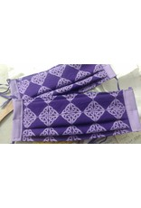 Cloak and Dagger Creations 3 Layer Pleated Face Mask - Purple Celtic Knot - 100% Cotton