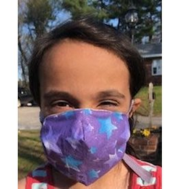 Cloak and Dagger Creations Kids 3-Layer Dart Mask w/Elastic Ties, Purple Star