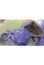 Cloak and Dagger Creations Kid Rectangular 3-Layer Dart Mask w/Elastic Ties, Purple Star