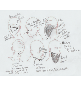 Cloak and Dagger Creations Mask Measurement - Beard