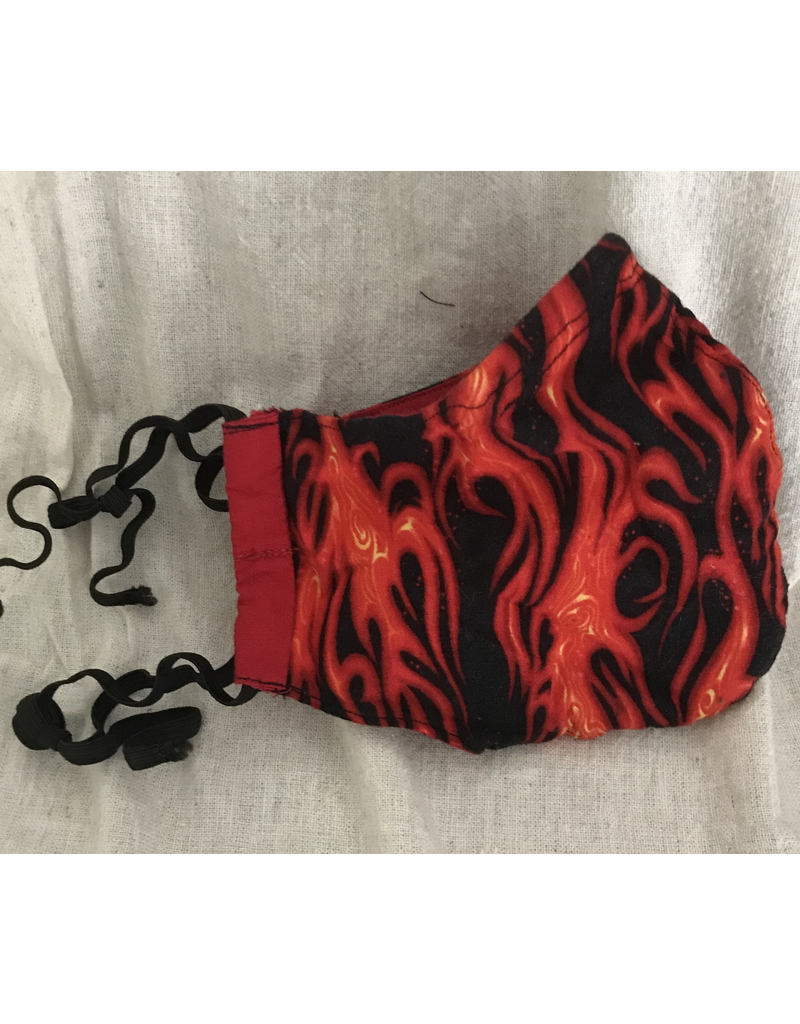 Cloak and Dagger Creations Fitted Cotton Face Mask - Flames