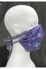 Cloak and Dagger Creations Darted Mask - Purple Glitter Stars