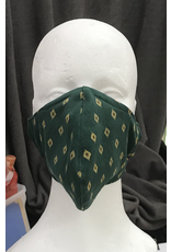 Cloak and Dagger Creations Fitted cotton 2 Layer Mask - Green Diamond
