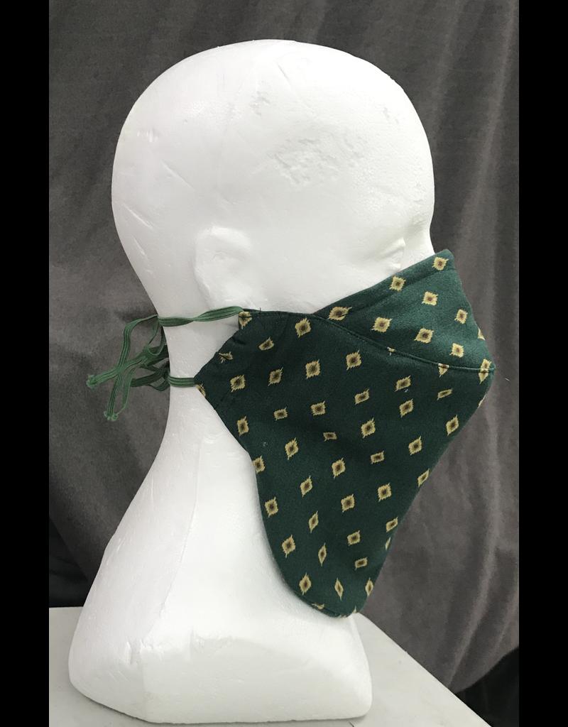 Cloak and Dagger Creations Bearded Face Mask - Green Diamond
