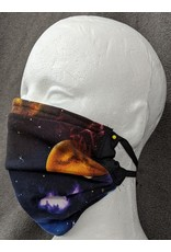 Planets - 3 layer Cotton and Silk Rectangular Pleated