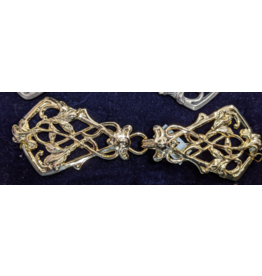 Cloak and Dagger Creations Art Deco Vine Clasp - Gold Tone Plated