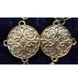 Cloak and Dagger Creations Renaissance Lotus Medallion Cloak Clasp - Gold Tone Plated