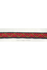 Cloak and Dagger Creations Celtic Knot Trim, Red/Amber on Black