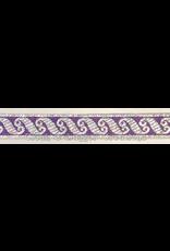 Scrollwork Narrow Trim Silver on Purple