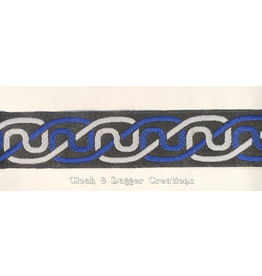 Cloak and Dagger Creations Simple Knotwork Trim, Blue/Grey