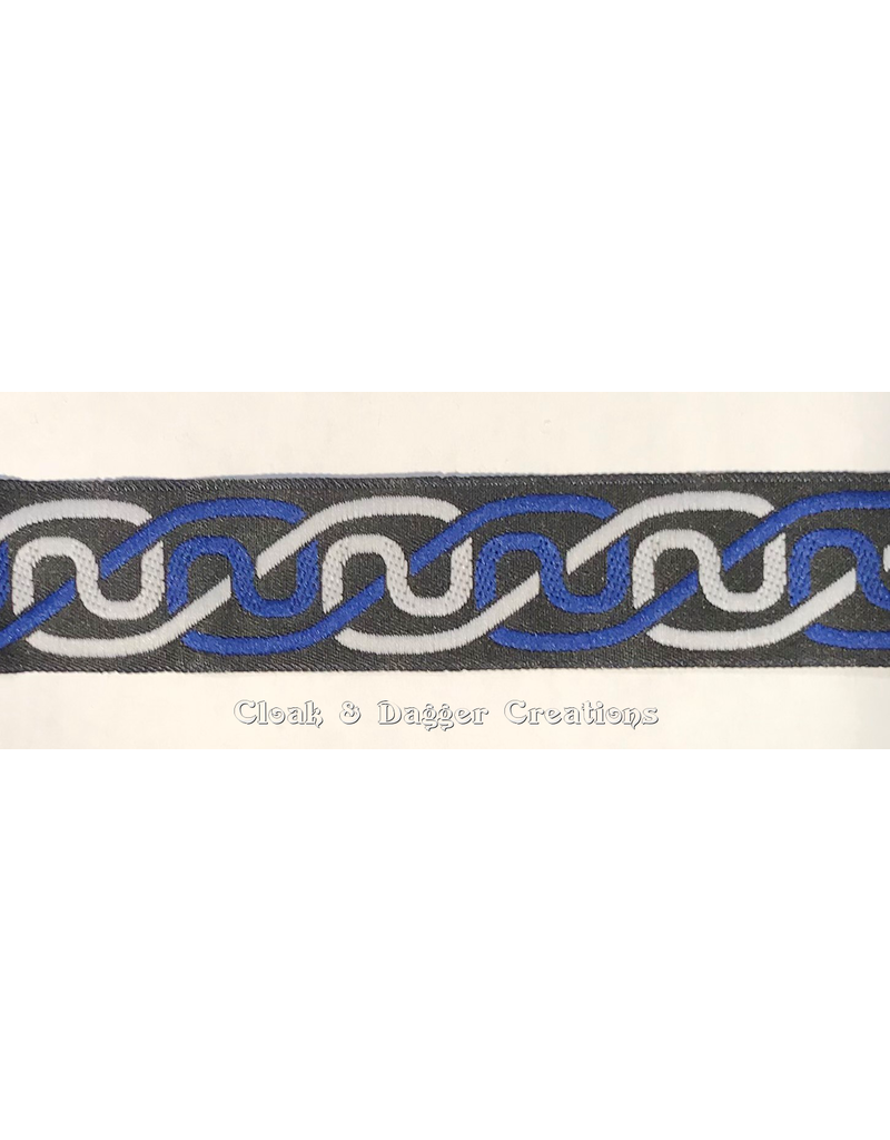 Cloak and Dagger Creations Simple Knotwork Trim, Blue/Grey