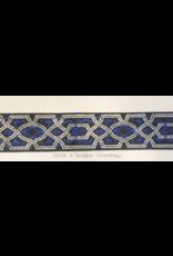Cloak and Dagger Creations Trellis, Silver w/Blue Flourish, Wide