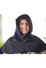 Cloak and Dagger Creations H251 - Hood in Ink Black 100% Wool, Washable, Easy Care