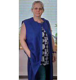 Cloak and Dagger Creations J703 - Royal Blue Wool Long Vest w/Pockets