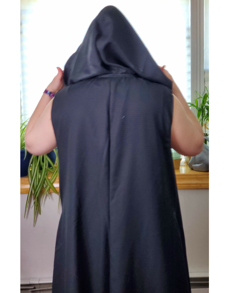 Cloak and Dagger Creations J705 - Black Wool Long Vest